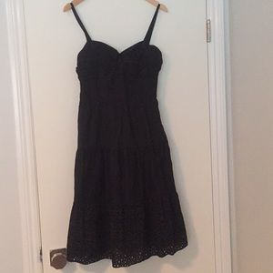 Black lined dress